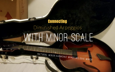 Connecting Diminished Arpeggio with Minor Scales