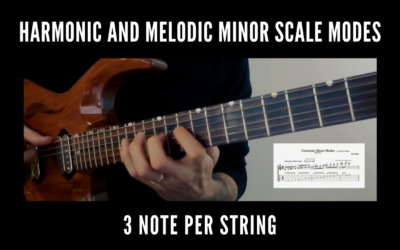 Harmonic and Melodic Minor Scale Modes (3 Note Per String)